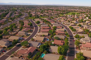 Aerial Phoenix Neighborhood